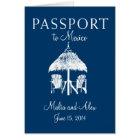 Passport to Mexico Wedding Card