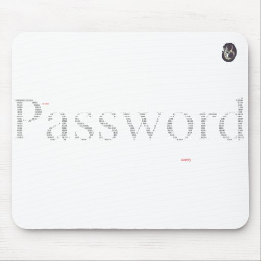 Password mousepad mouse pads