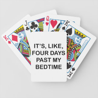 Past My Bedtime Bicycle Playing Cards