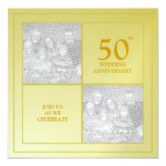 Past & Present Photo Golden Anniversary Card