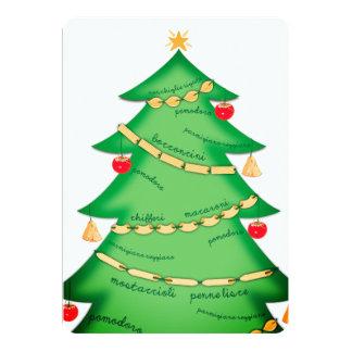 Pasta Italian food restaurant Christmas card