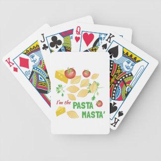 Pasta Masta Bicycle Playing Cards