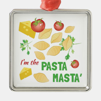 Pasta Masta Metal Ornament