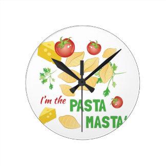 Pasta Masta Round Clock