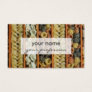 pasta noodles photograph business card
