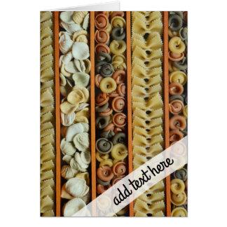 pasta noodles photograph card