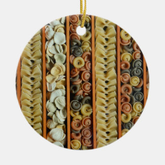 pasta noodles photograph ceramic ornament