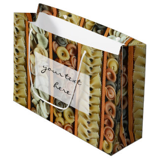 pasta noodles photograph large gift bag