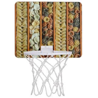 pasta noodles photograph mini basketball hoop