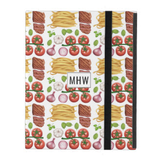 Pasta Pattern custom monogram device cases