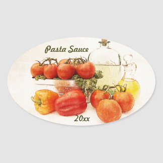 pasta sauce canning label sticker