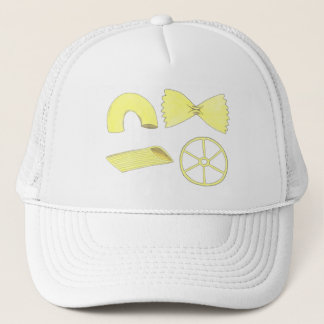 Pasta Shapes Italian Food Macaroni Penne Foodie Trucker Hat