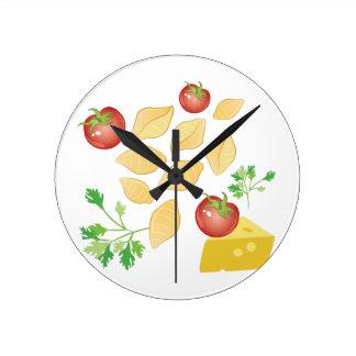 Pasta Shells Round Clock