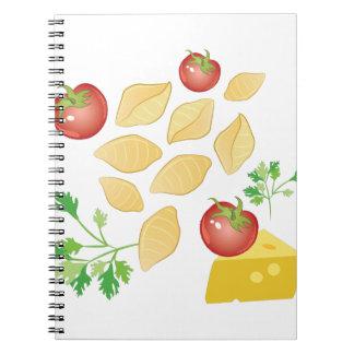 Pasta Shells Spiral Notebook