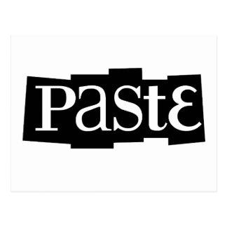 Paste Block Logo Black Postcard