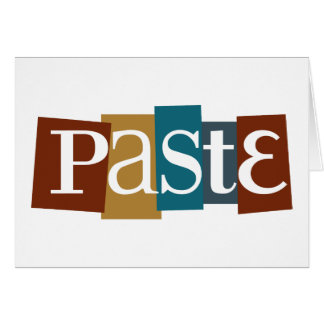 Paste Block Logo Color Greeting Card
