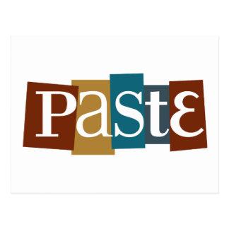 Paste Block Logo Colour Postcard