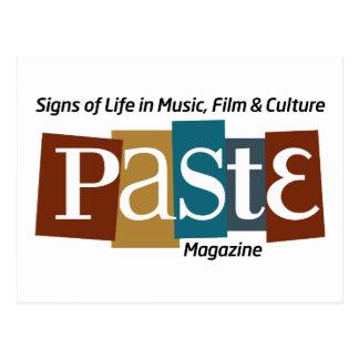 Paste Block Logo Mag and Tag Colour Postcard