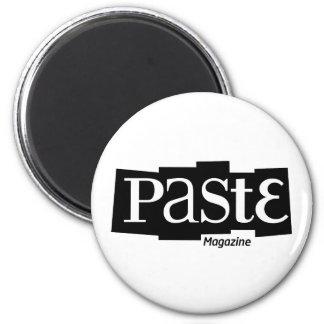 Paste Block Logo Magazine Black 6 Cm Round Magnet