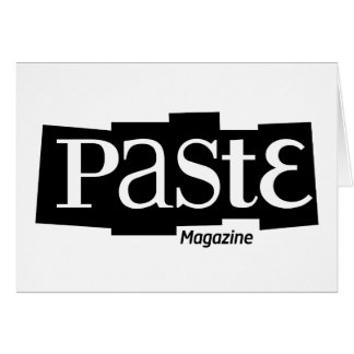 Paste Block Logo Magazine Black Greeting Card