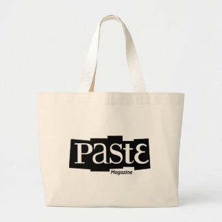 Paste Block Logo Magazine Black Jumbo Tote Bag