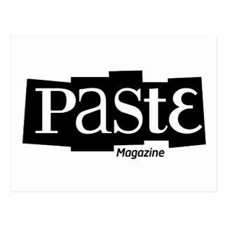 Paste Block Logo Magazine Black Postcard