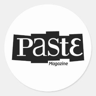 Paste Block Logo Magazine Black Round Sticker