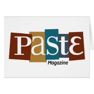 Paste Block Logo Magazine Color Card
