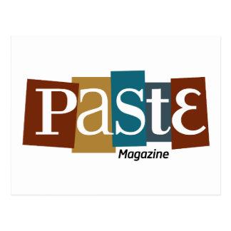 Paste Block Logo Magazine Colour Postcard
