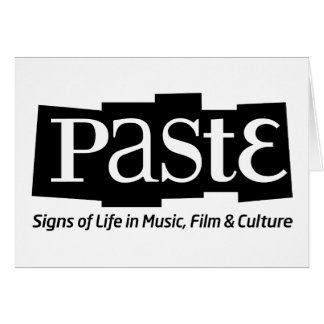 Paste Block Logo Tag on Bottom Black Greeting Card