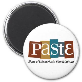 Paste Block Logo Tag on Bottom Color 6 Cm Round Magnet