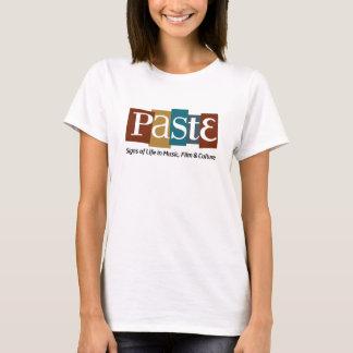 Paste Block Logo Tag on Bottom Color T-Shirt