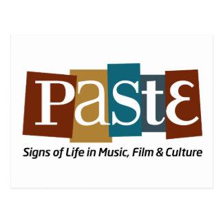 Paste Block Logo Tag on Bottom Colour Postcard