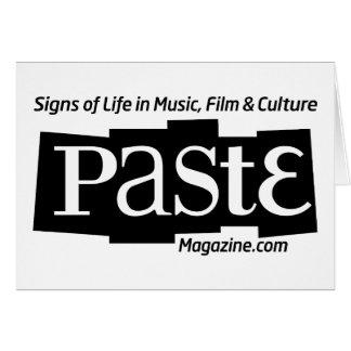 Paste Block Logo Url and Tag Black Greeting Card
