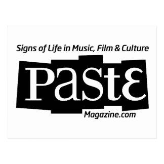 Paste Block Logo Url and Tag Black Postcard