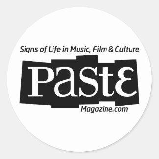 Paste Block Logo Url and Tag Black Round Sticker