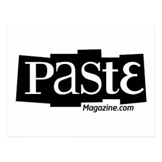 Paste Block Logo URL Black Postcard