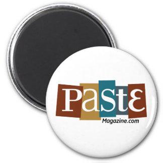 Paste Block Logo URL Color 6 Cm Round Magnet