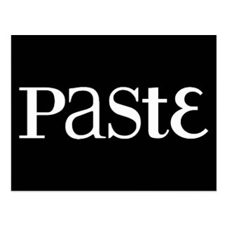 Paste Classic White Logo Postcard