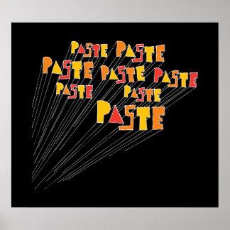 Paste Hand Drawn Logo Array Poster Print