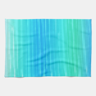 Pastel Abstract Art Teal Turquoise Blue Green Tea Towel