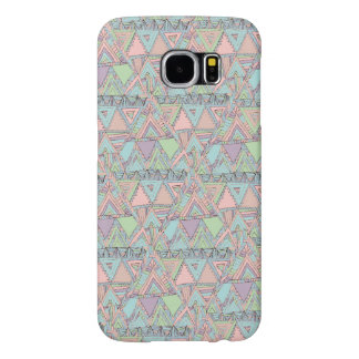 Pastel Abstract Aztec Triangles Sketch Pattern