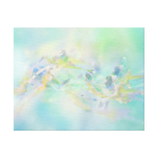 Pastel Abstract Floral Pattern Canvas Print