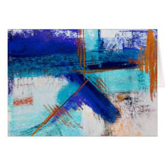 Pastel Abstract Icy Stares Greeting Card