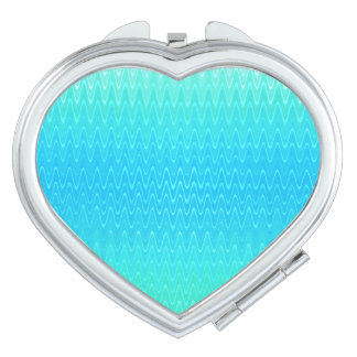 Pastel Abstract Turquoise Blue Green Pattern Mirror For Makeup