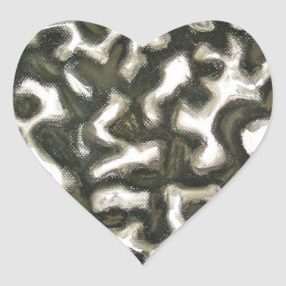 Pastel Algae abstract expressionism Heart Sticker