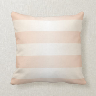 Pastel Apricot Stripes Pattern Throw Pillow