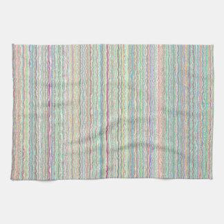 Pastel Art Stripes Custom Kitchen Towel