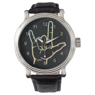 Pastel ASL I Love You Watch