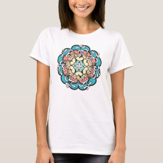 Pastel Aum Mandala Cami with Hearts T-Shirt